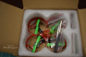 Furious fpv mosquito 70 frsky in the opened box