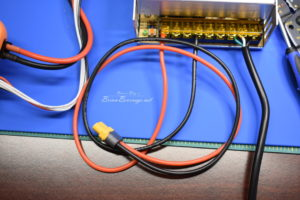 XT60 pigtail connected to power supply