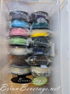 Filament container